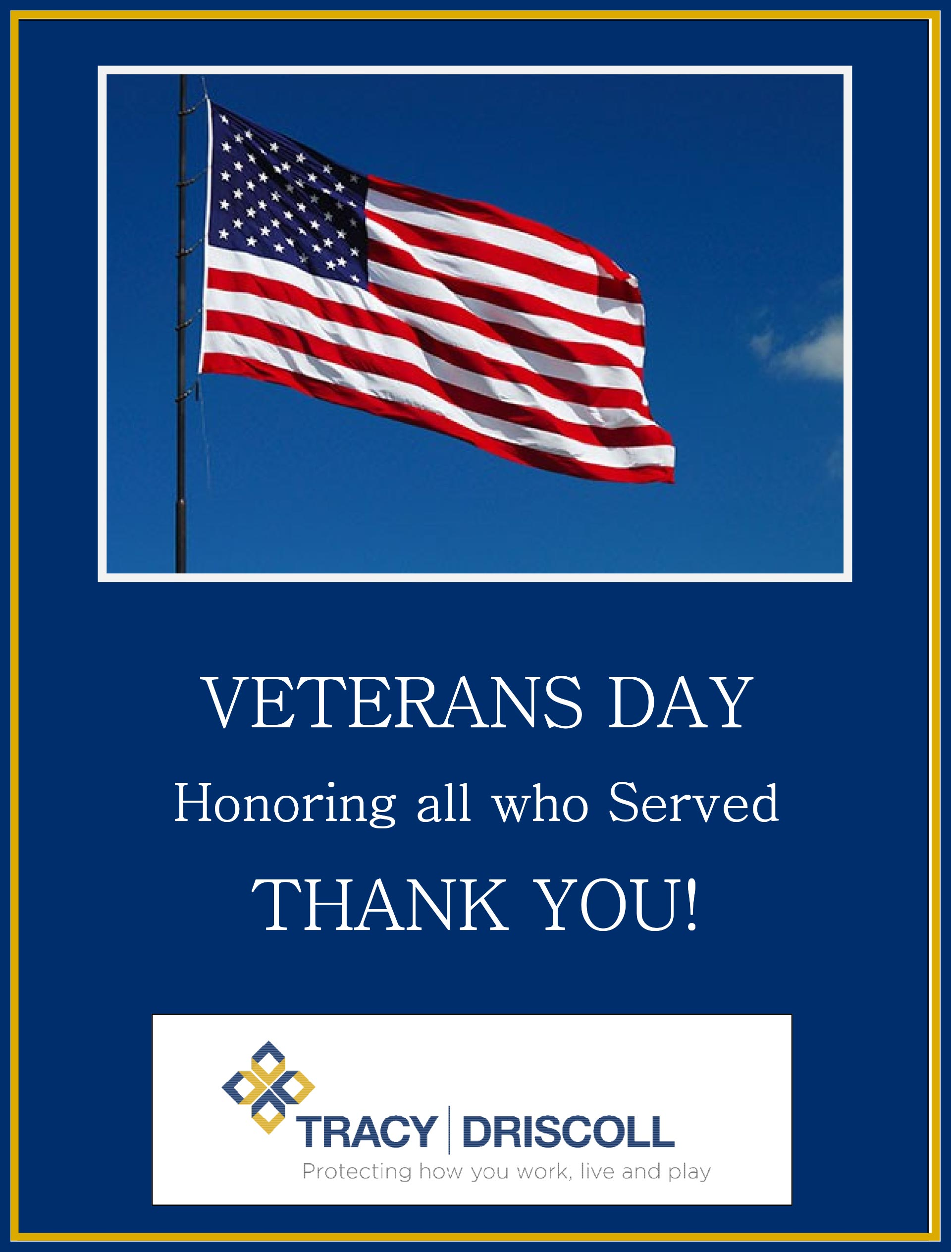 Honoring all who served, Happy Veterans Day!