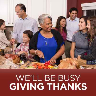 We'll Be Busy Giving Thanks